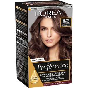 PRÉFÉRENCE  Стойкая краска для волос, оттенок 6.21 Риволи.