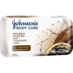 Johnson's Body Care Vita-Rich Питательное мыло с маслом какао, 125 г
