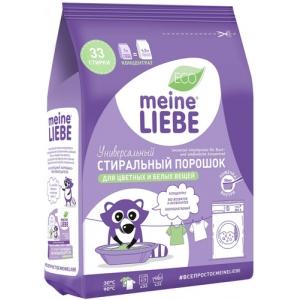 """Универсальный стиральный порошок """"Meine Liebe"""", для цветных и белых тканей, концентрированный, 1 кг"""