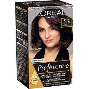 PRÉFÉRENCE  Стойкая краска для волос, оттенок 3.12 Мулен Руж.