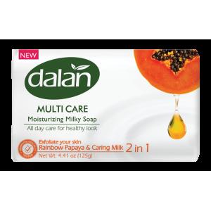 Dalan Мыло увлажняющее молочное папайя, 125 гр