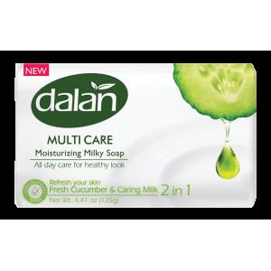 Dalan Мыло увлажняющее молочное огуречное, 125 гр
