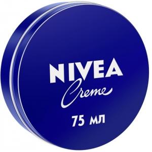 Nivea Creme Увлажняющий универсальный крем, для лица, рук и тела с пантенолом, 75 мл