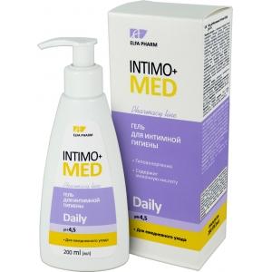 Elfa Pharm Intimo+MED Гель для интимной гигиены Daily для ежедневного ухода, pH 4,5, 200 мл