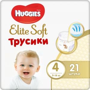 Huggies® Elite Soft Трусики 4 (9-14 кг) для мальчиков и девочек