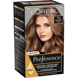 PRÉFÉRENCE  Стойкая краска для волос, оттенок 7.1 Исландия.