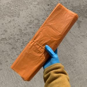 Пакет оранжевый с ручкой 32х53см , 70 шт