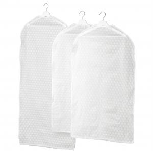 Чехол для одежды, 3 штуки, прозрачный белый ПЛУРИГ