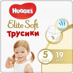 Huggies® Elite Soft Трусики 5 (12-17 кг) для мальчиков и девочек