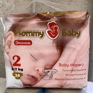 Mommy Baby 2 (3-7кг) 26 штук