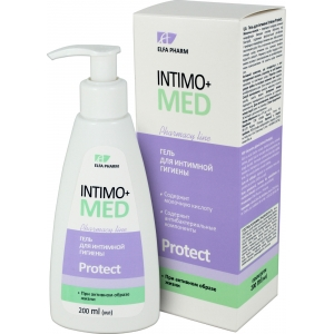 Elfa Pharm Intimo+med Гель для интимной гигиены Protect при активном образе жизни, 200 мл