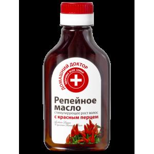 Домашний доктор Репейное масло для волос стимулирующее рост с красным перцем 100 мл