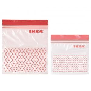 Пакет закрывающийся, красный ИСТАД 60 шт