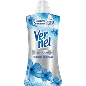 """Vernel Кондиционер-ополаскиватель для белья Fresh Control """"Ледяная прохлада"""", концентрат 1,2 л"""
