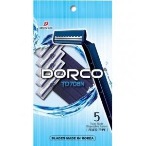 Dorco TD-708 Одноразовые станки для бритья с 2 лезвиями 5шт.
