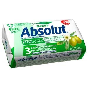 Absolut Nature Мыло туалетное антибактериальное белый чай, 90 г