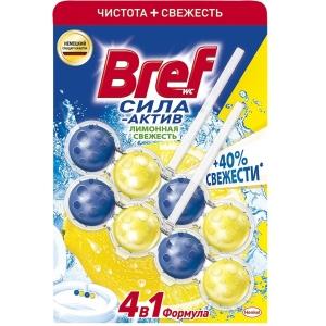 """Bref Средство чистящее для унитаза """"Сила-актив"""", лимонная свежесть, 2 х 50 г"""