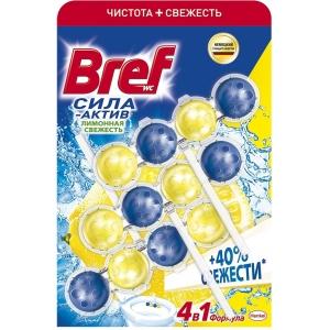 Bref  Чистящее средство для унитаза Сила-Актив Лимонная Свежесть 3х50г