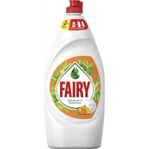 """Fairy Средство для мытья посуды """"Апельсин и лимонник"""", 900 мл"""