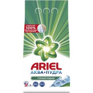 Ariel Аквапудра Горный родник Стиральный порошок ,3 кг (20 стирок)