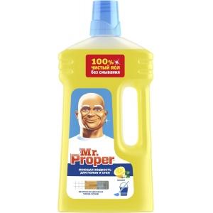 """Mr. Proper Моющая жидкость для полов и стен  """"Лимон"""", 1 л"""