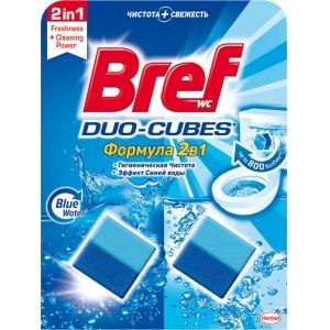 Bref Чистящие кубики для сливного бачка Duo-Cubes 2х50г