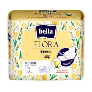 Bella flora прокладки с ароматом тюльпана ,10 шт