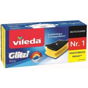 Губка для посуды Vileda Glitzi Plus для кастрюль 3шт, упак.