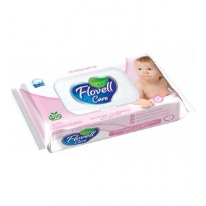 Flovell Care влажные салфетки для детей, без аромата, 54шт