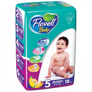 Flovell Baby 5 подгузники, 19 шт