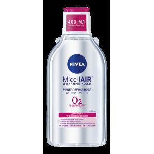 Nivea MicellAIR мицеллярная вода для лица, глаз и губ, Дыхание Кожи, для сухой и чувствительной кожи, 400мл