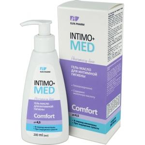 Elfa Pharm Intimo+MED Гель-масло для интимной гигиены Comfort pH 4,5 в период менопаузы, при ощущении сухости, 200 мл