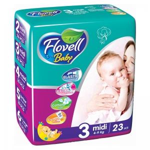 Flovell Baby 3 подгузники, 23 шт