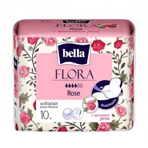 Bella flora прокладки с ароматом розы ,10 шт