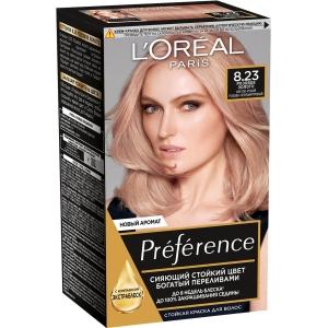 PRÉFÉRENCE  Стойкая краска для волос, оттенок 8.23 Розовое Золото.