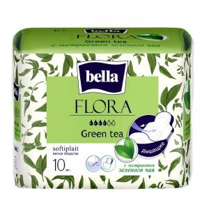 Bella flora прокладки с экстрактом зелёного чая ,10 шт