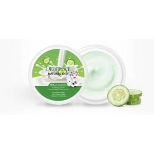 ОСВЕТЛЯЮЩИЙ КРЕМ ДЛЯ ЛИЦА DEOPROCE NATURAL SKIN NOURISHING CREAM MILK CUCUMBER
