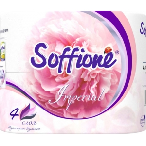 Soffione Imperial туалетная бумага, четырехслойная, 4 рулона * 17,92 метра