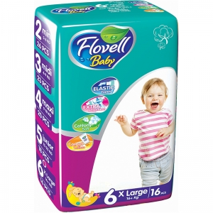Flovell Baby 6 подгузники, 16 шт