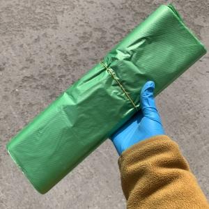Пакет зелёный с ручкой , 32х53см , 70 шт