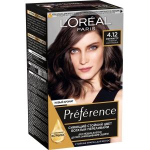 PRÉFÉRENCE  Стойкая краска для волос, оттенок 4.12 Монмартр.