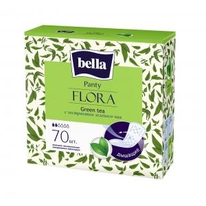 Bella panty flora ежедневки с экстрактом зеленого чая , 70 шт