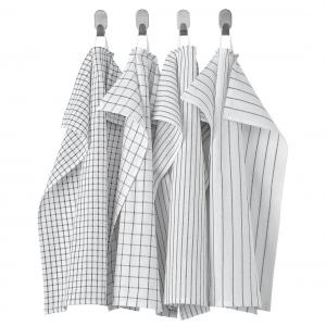 Полотенце кухонное, белый/темно-серый/с рисунком45x60 см РИННИНГ