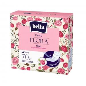 Bella panty flora ежедневки с экстрактом розы ,70 шт