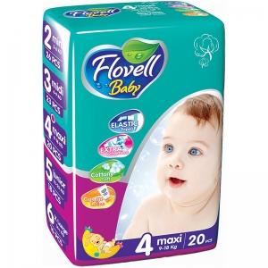 Flovell Baby 4 подгузники, 20 шт
