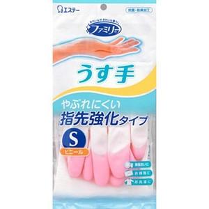 Перчатки ST Family Виниловые тонкие, S (розовые), 1 пара