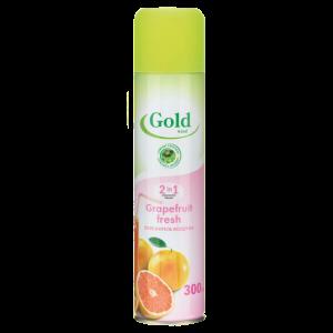 Gold wind Освежитель воздуха  2 в 1 свежесть грейпфрута, 300 мл