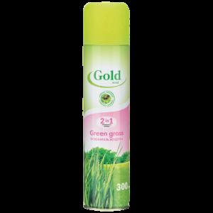 Gold wind Освежитель воздуха 2 в 1 зеленая трава, 300 мл