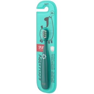 Splat Junior Зубная щетка, с ионами серебра, мягкие щетинки, для детей от 4 лет, бирюзовый
