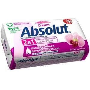 Absolut Cream Мыло туалетное антибактериальное дикая орхидея, 90 г